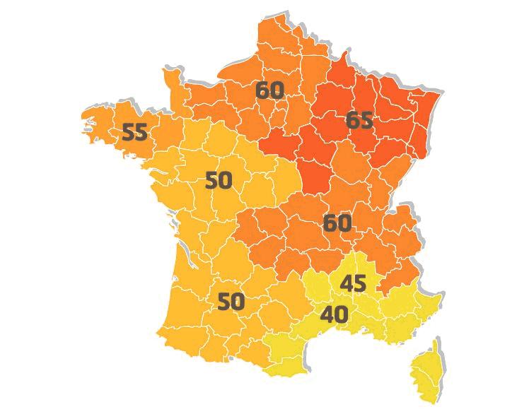 La consommation conventionnelle maximale d'énergie primaire (Cepmax) pour l'isolation en France